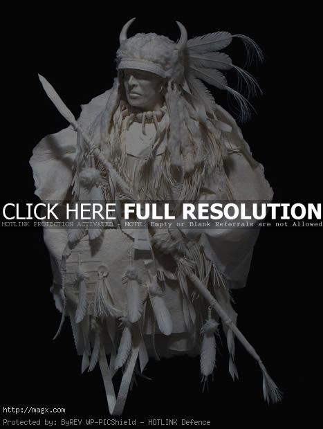 native american art Native American Art Paper Sculptures