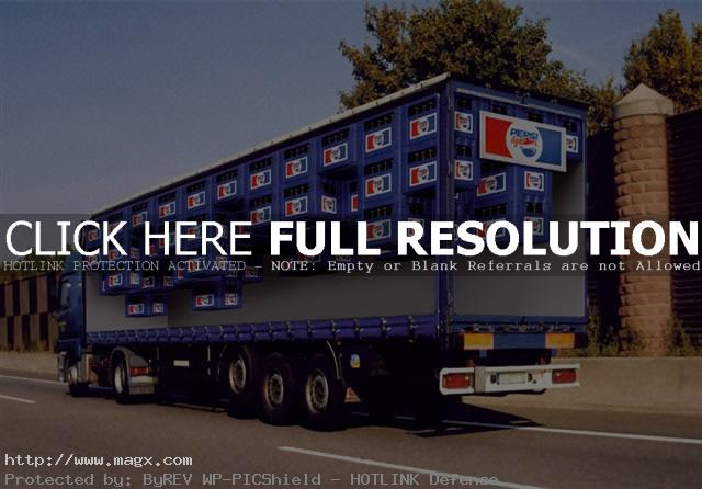 visual illusion Painted Optical Truck Illusions