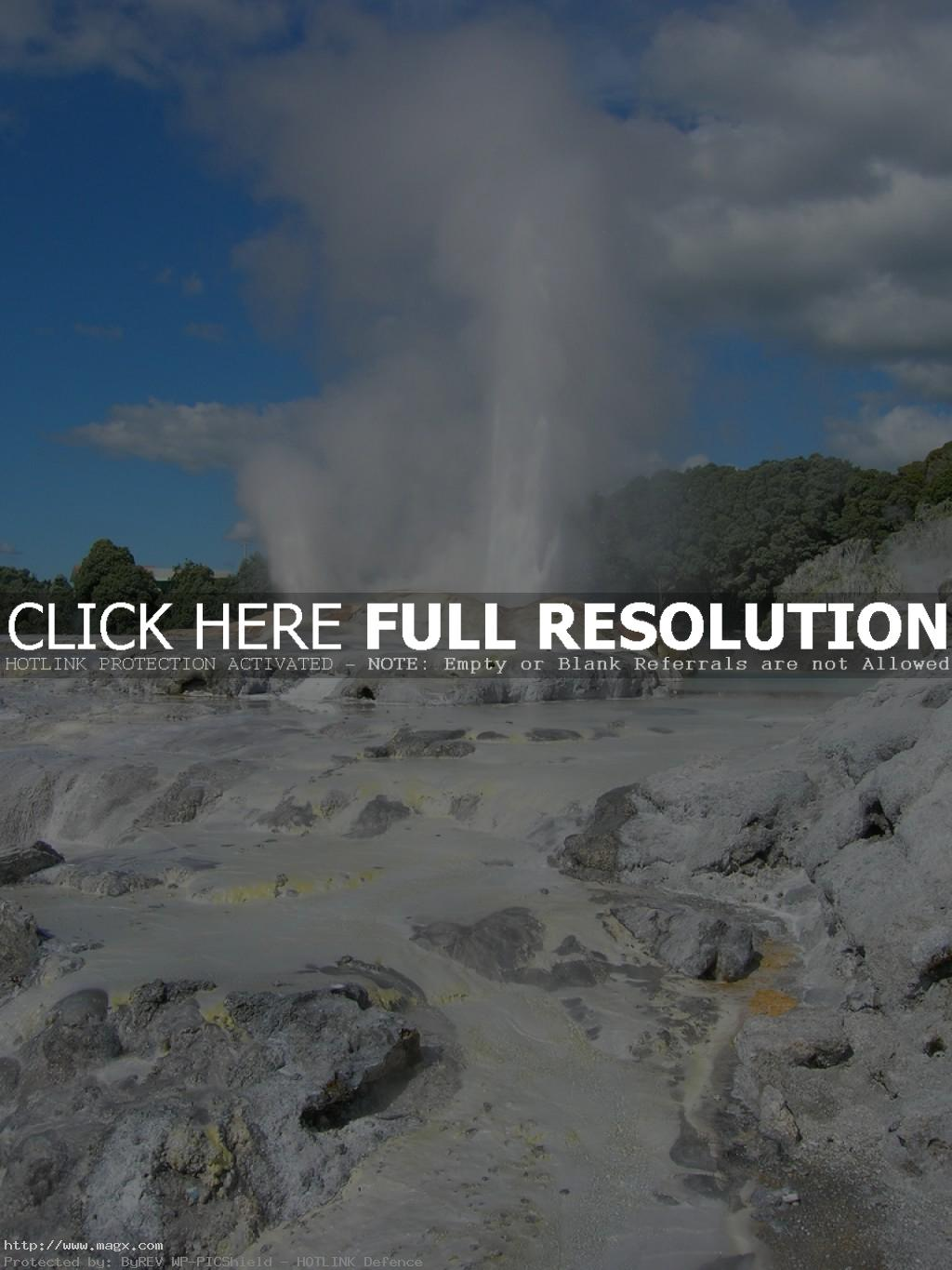 te puia Geothermal Geyser Te Puia, New Zealand