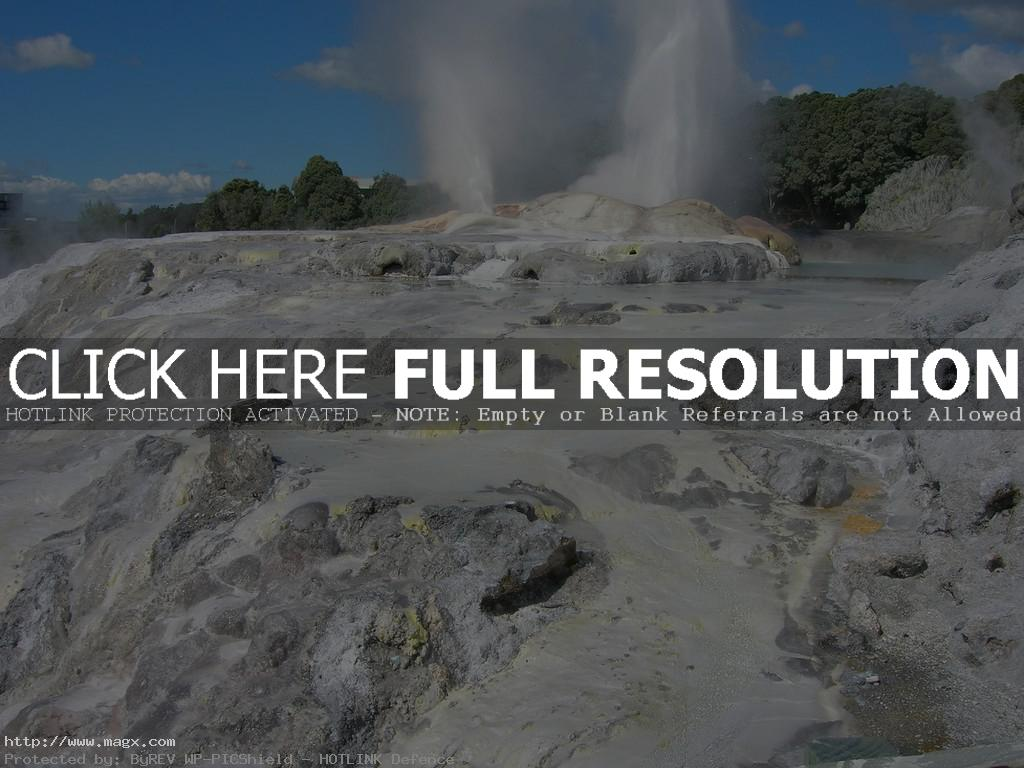 te puia1 Geothermal Geyser Te Puia, New Zealand