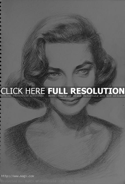 pencil drawings6 Cool Pencil Portrait Drawing