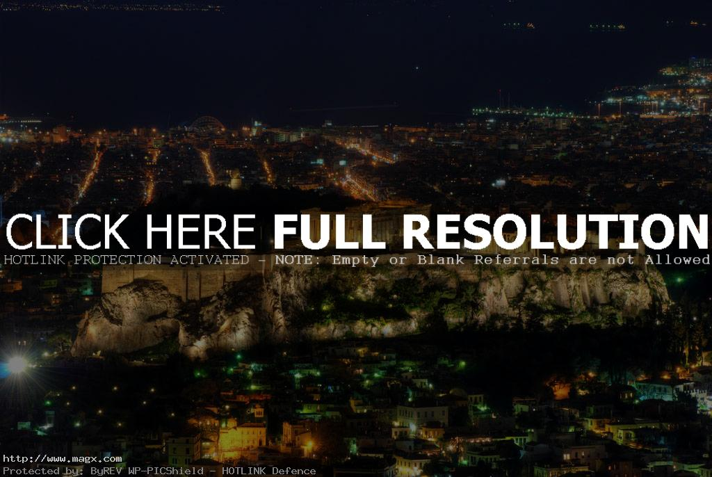 acropolis The Greek Acropolis at Night