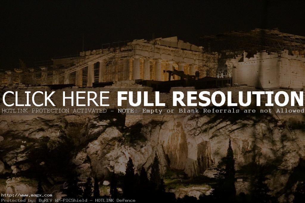 acropolis6 The Greek Acropolis at Night