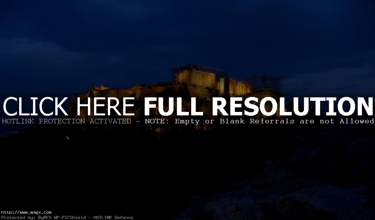 acropolis7 The Greek Acropolis at Night