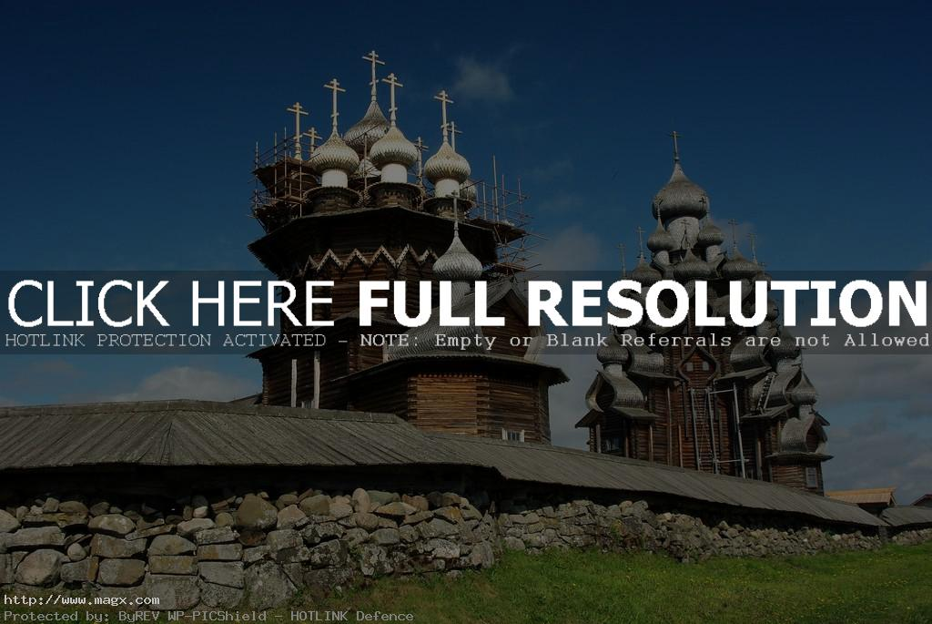 wooden church A Marvel of Architecture   Russian Wooden Church