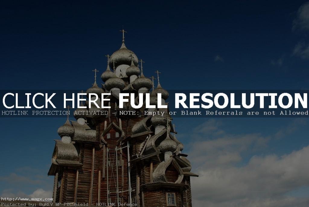 wooden church1 A Marvel of Architecture   Russian Wooden Church