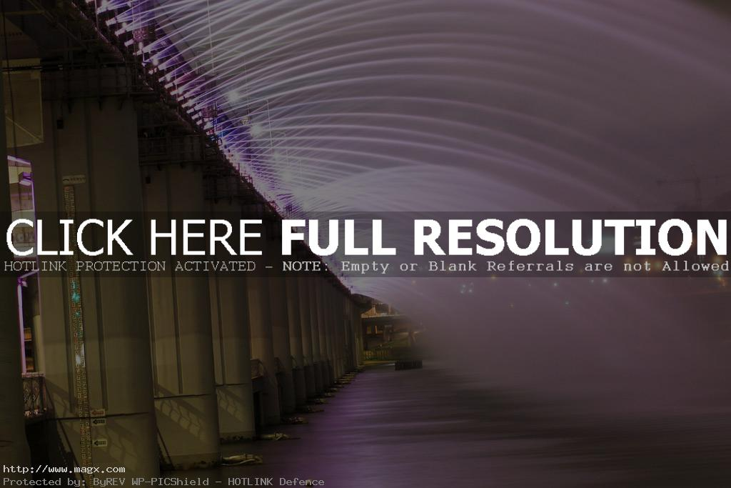 banpo bridge8 Rainbow Fountain Banpo Bridge in Seoul, South Korea