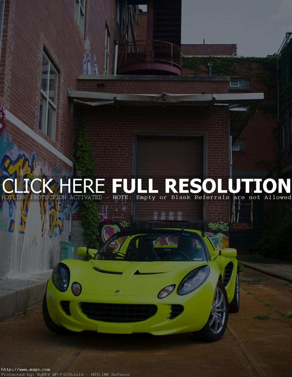 lotus elise7 Krypton Green Lotus Elise