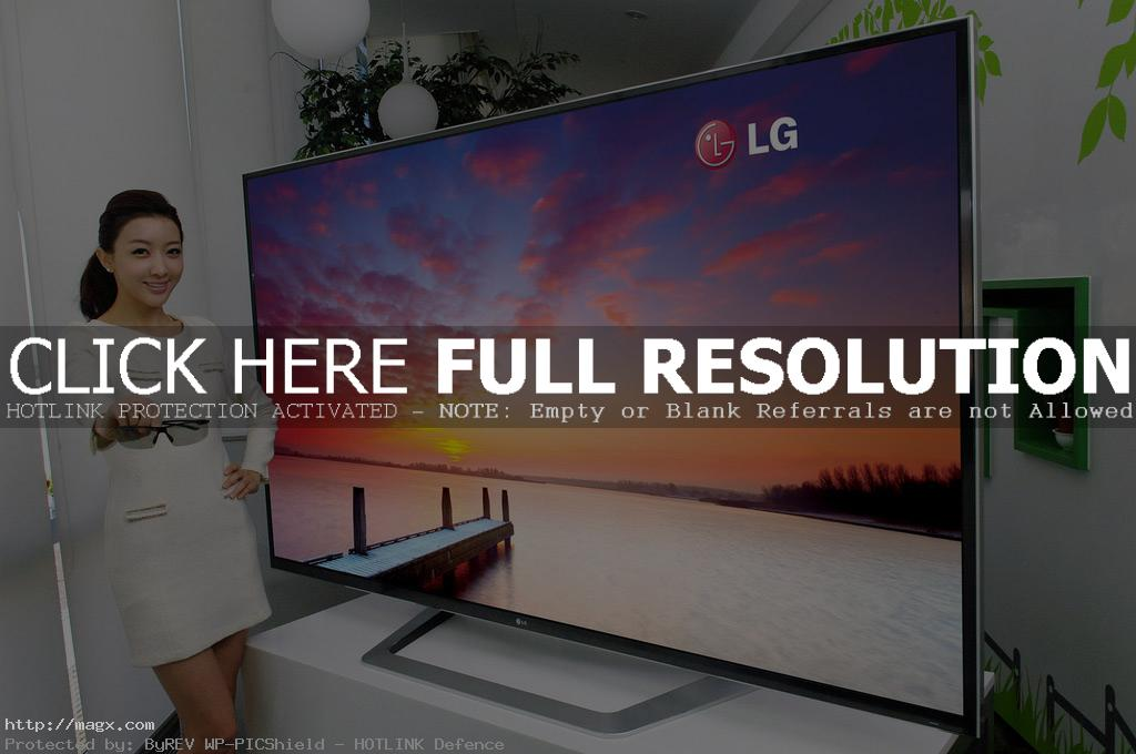 lg smart tv2 Worlds Largest 3D Ultra Definition HDTV and Smart TV by LG at CES 2012