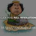 Caricatures of Muammar Gaddafi