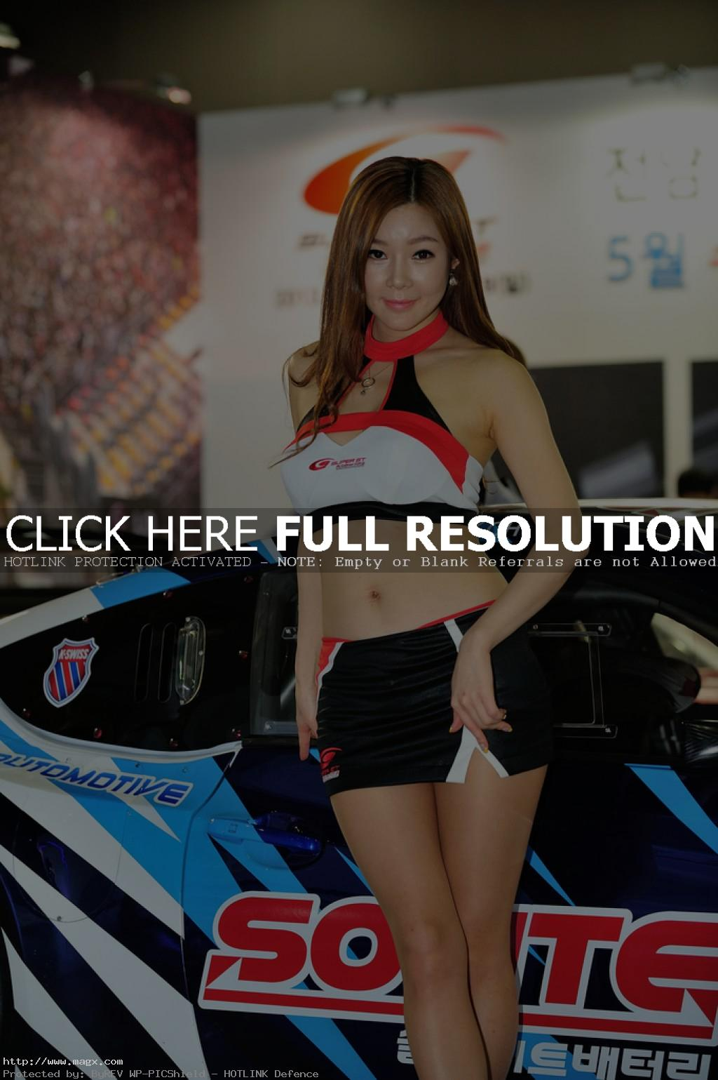 korean girls Most Beautiful Promotional Models of Seoul Motor Show 2013
